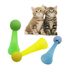 Cute Pet Puppy Dog Cat Jumping Moving Rolling Flashing Ball Play Fun Toys New