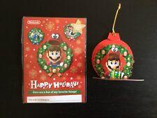 Nintendo Happy Holidays Wish List — W/ Mario Cappy Paper Ornament — BRAND NEW