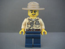 Lego Minifig Figurine City Swamp police officer neuf / New Set 60099