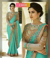 Indian Wedding Designer Casual Bollywood Pakistani Saree Party &Ethnic Wear Sari