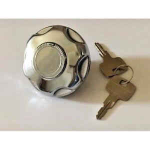 Ford Consul, Zephyr MK2, Chrome Petrol Cap with Key (Locking)