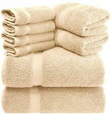 Luxury Beige Bath Towel Set - Hotel Soft Cotton 2/Bath 2/Hand 4/Wash - 8 Piece