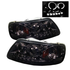 Ford 97-03 F150 / Expedition Smoke Dual Halo LED Projector Headlights Lamp