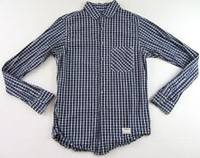 AVIATOR Colby Kane Made USA Blue Plaid LS Buttonfront Shirt Size M