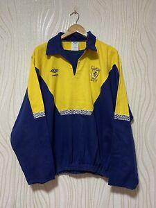 SCOTLAND 1991 1993 FOOTBALL SOCCER TRAINING DRILL TOP UMBRO sz XL MEN VINTAGE