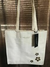 Marc Jacobs Daysi Fragrance Tote Bag Beige Cream Of White Ivory Cotton NEW