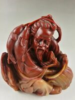 Chinese Shoushan stone carving decoration of the old fisherman A12