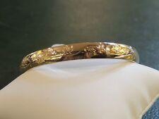 """Bracelet ancien or 18 carats massif motif """"feuilles"""""""