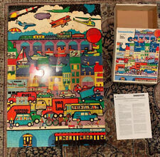 1977 Judy Instructo TRANSPORTATION FLOOR 20 pc Jigsaw Puzzle 2ft x 3ft  Ages 4-7