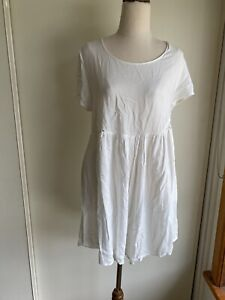 Wrangler Romper Playsuit Size 14 White Lace Viscose Cotton Summer Beach Pockets