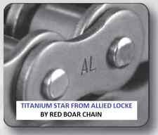 #80H-1R X 50FT HEAVY TITANIUM STAR ROLLER CHAIN BY ALLIED LOCKE 5 FREE LINKS