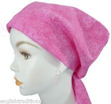 Cheerful Pink Floral Cancer Hat Alopecia Hair loss Scarf Turban Head Wrap Cover