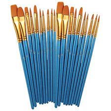 Paint Brushes Set, 2 Pack 20 Pcs Round Pointed Tip Paintbrushes Nylon Hair