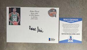 Robert Parish Signed 4x6 Index Card Cut Beckett BAS COA Boston Celtics HOF Auto
