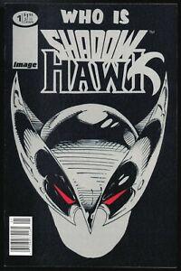 Shadowhawk #1 newsstand variant VF/VF+ Image Silvestri RARE