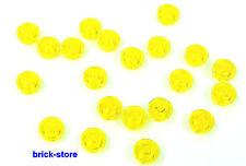LEGO JAUNE / 1x1 x0.33 ronde plaques/QUELQUES pierres/20 pièces