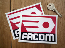 FACOM Red & Black Racing Sponsors STICKERS 120mm Pair Classic Race Car Bike