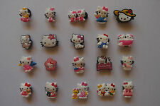 6 x HELLO KITTY SHOE CHARM PARTY FAVOR CAKE DECORATION SCRAPBOOKING