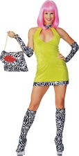 ***SALE*** 70's Fancy Dress Costume ~ Deluxe Hot Chick Lime Small