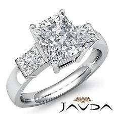 3 Piedra Utensilios de Bar Almohadón Anillo de Compromiso Diamante GIA i VS2 14k