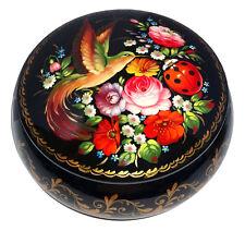 Boite décorative, Boite peint Oiseau et Coccinelle Artisanat Russe, Boite bijou