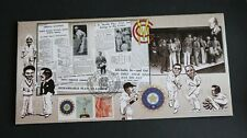GB 2007 Cricket NPOWER Test Series cover Bletchley Park Ltd Ed FDC