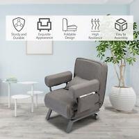 JAXSUNNY Sofa Bed Folding Arm Chair Convertible Sleeper Chair Leisure Recliner
