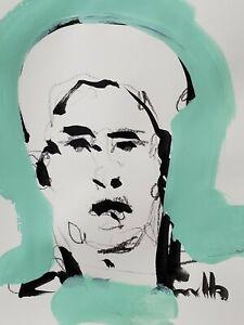 JOSE TRUJILLO ORIGINAL Art SIGNED ACRYLIC on Paper PAINTING MODERNISM 9X12