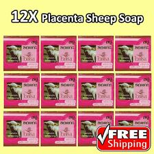 12 White Rose Whitening LANOLIN Placenta Sheep Extra Cell Repair Collagen Soap