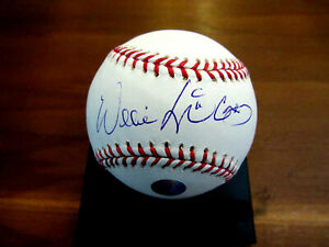 WILLIE MCCOVEY MVP SF GIANTS PADRES HOF SIGNED AUTO OML BASEBALL FELLER MUSEUM