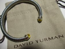 David Yurman Cable Classics Bracelet with Lemon Citrine and 14K gold, 5mm