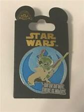 """STAR WARS QUOTES STITCH as YODA """"DO OR DO NOT THERE IS NO TRY"""" DISNEY PIN 108030"""
