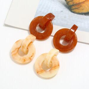 Women Acrylic Geometric Dangle Drop Resin Ear Stud Earrings Party Jewellery Gift
