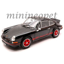 WELLY  18044 1973 73 PORSCHE 911 CARRERA RS 1/18 DIECAST MODEL CAR BLACK