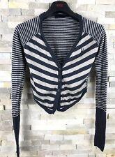 All Saints Ladies Size M Striped Wool Cardigan