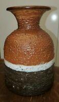 Vintage Mid Century Italy Art Pottery Vase Textured bitossi raymor style