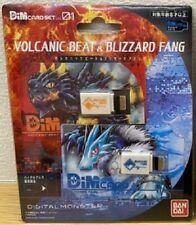 Digimon Vital Bracelet Dim Card Vol.1 Volcanic Beat & Blizzard Fang Bandai Japan