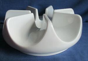 Arzberg Stövchen weiß 16 cm  Form 9961 Design Hans-Wilhelm Seitz 1984 Porzellan
