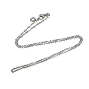 BVLGARI Necklace Chain AU 750 White Gold Authentic