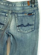 Women's 7 For All Man Kind Great China Wall 30 x 30 Wide Flare jeans