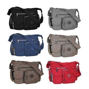Bag Street Umhängetasche Nylontasche Handtasche Crincle Nylon Damentasche B2219