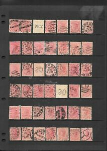 Bulk Stamps Victoria 1d Rose Queen Victoria  x 42 Good Used /Fine Used