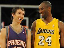 Steve Nash And Kobe Bryant Happy And Smiling 8x10 Photo Print