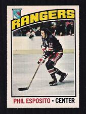 1976-77 PHIL ESPOSITO #245 NM+ OPC ** NY Rangers HALL OF FAME Star Hockey Card