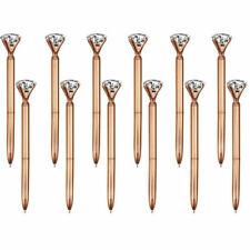 Rose Gold Diamond Crystal Topped Ball Point Kensington Stationary Fantastic Gift