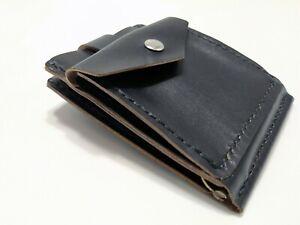 Black leather money clip wallet,mini money clip, wallet coin,man's wallet