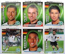 FUSSBALL 6 Sticker WM 2010, DFB - Team, FERRERO DUPLO, Deutschland Set 3, NEUW.