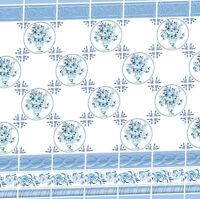 Dolls House Victorian Wallpaper Blue Kitchen Bathroom Quality Satin Paper #28