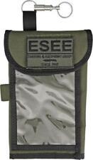 Esee Logo Od Green Map Case w/ Rain Flap External Pockets Survival Pouch Mapcase