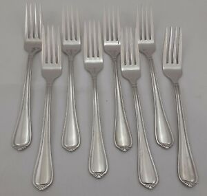 """Wallace 18/10 Stainless Flatware ALTON Dinner Forks Lot/8 Piece Set 7 7/8"""" Nice"""
